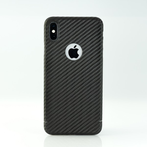 Carbon Cover iPhone Xs Max con Logo-Window