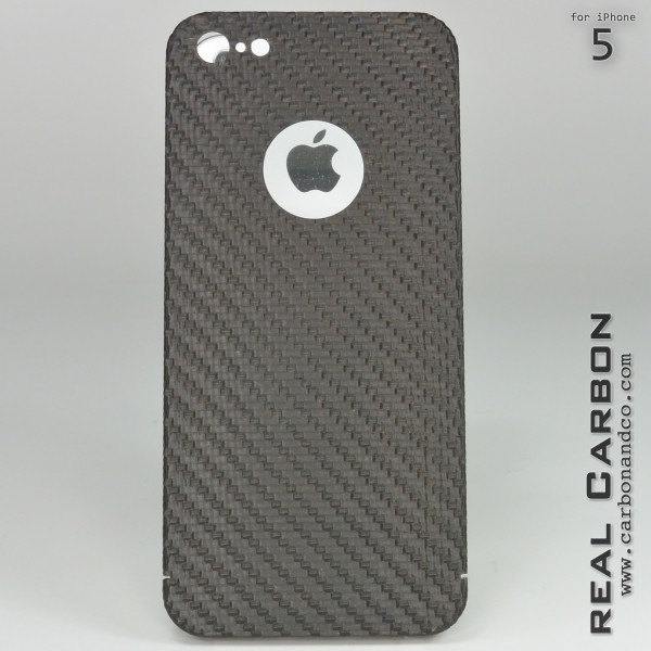 Carbon Cover iPhone 5 con Logo Window