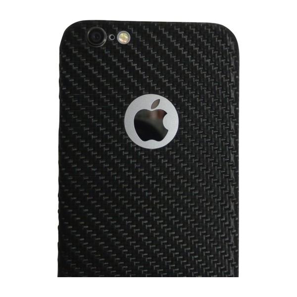 Carbon Cover iPhone 6 con Logo Window