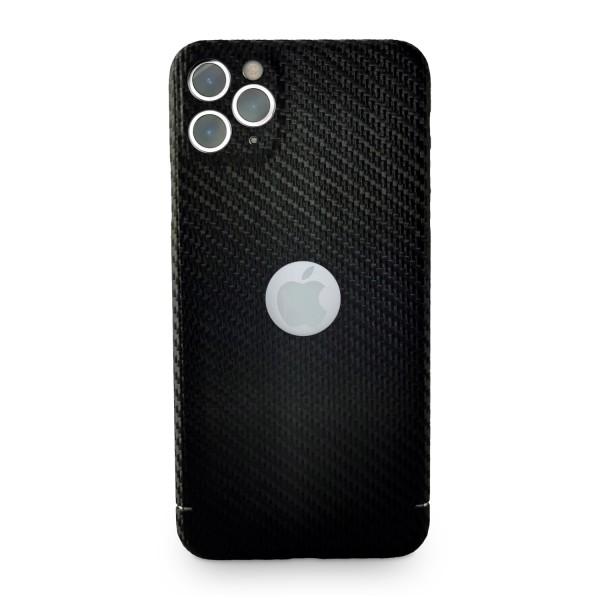 Carbon Cover iPhone 11 Pro Max con Logo Window