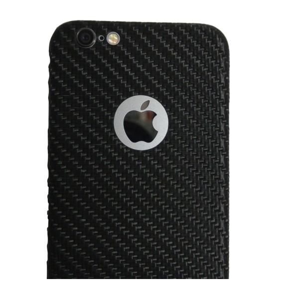 Carbon Cover iPhone 6 Plus con Logo Window