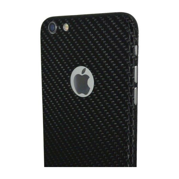 Carbon Cover iPhone 6s con Logo Window
