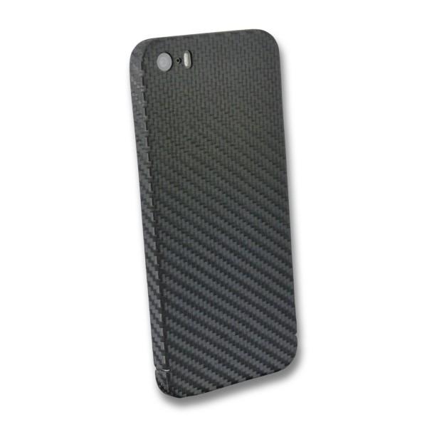 Carbon Cover iPhone SE 2016 con Logo Window